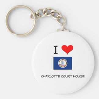 I Love Charlotte Court House Virginia Key Chain
