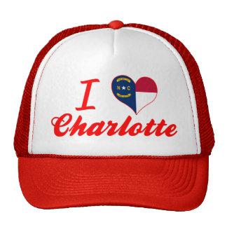 I Love Charlotte, North Carolina Cap