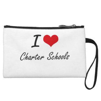 I love Charter Schools Artistic Design Wristlet