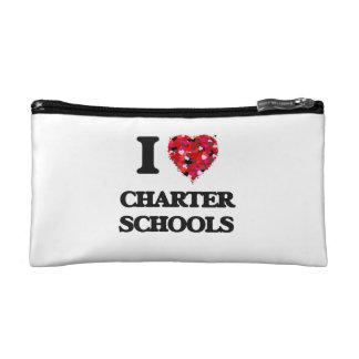 I love Charter Schools Cosmetic Bags