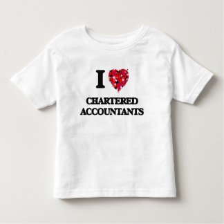 I love Chartered Accountants Toddler T-Shirt