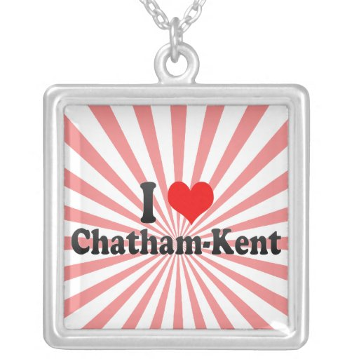 I Love Chatham-Kent, Canada Custom Necklace