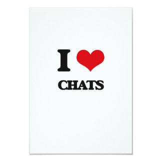 I love Chats 9 Cm X 13 Cm Invitation Card