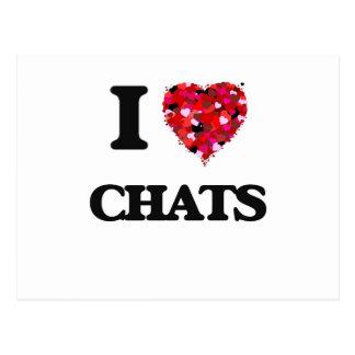 I love Chats Postcard