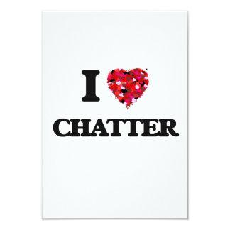 I love Chatter 9 Cm X 13 Cm Invitation Card