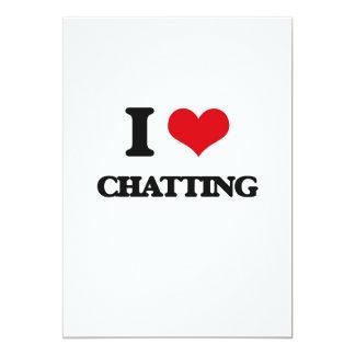 I Love Chatting 13 Cm X 18 Cm Invitation Card