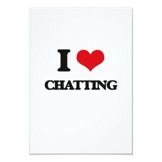 I Love Chatting 3.5x5 Paper Invitation Card