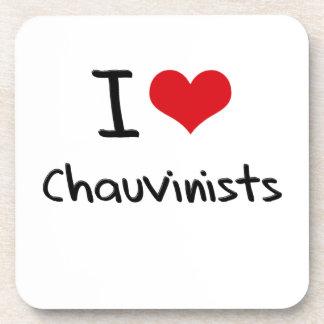 I love Chauvinists Beverage Coaster