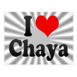 I love Chaya Postcard