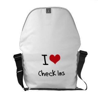 I love Check Ins Messenger Bag