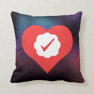 I Love Check Marks Throw Pillow