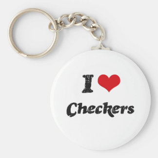 I love Checkers Key Chain