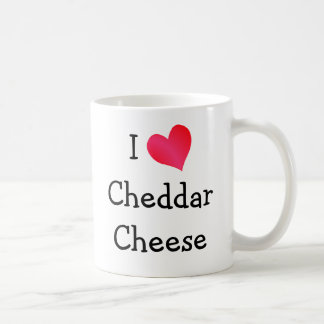 I Love Cheddar Cheese Coffee Mug