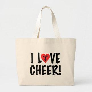 I Love Cheer! Jumbo Tote Bag