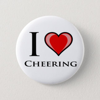 I Love Cheering 6 Cm Round Badge