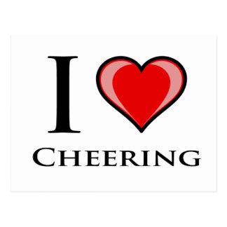 I Love Cheering Postcard