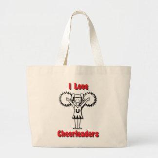 I Love Cheerleaders Tote Bags
