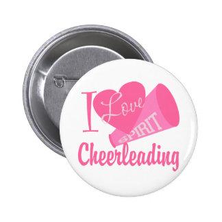 I Love Cheerleading 6 Cm Round Badge
