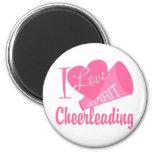 I Love Cheerleading 6 Cm Round Magnet