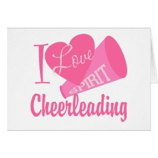 I Love Cheerleading Card