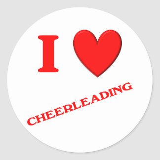 I Love Cheerleading Classic Round Sticker