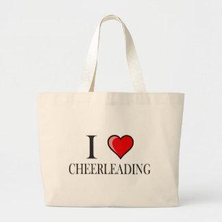 I love cheerleading jumbo tote bag