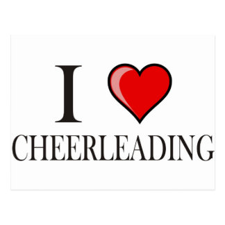 I love cheerleading postcard