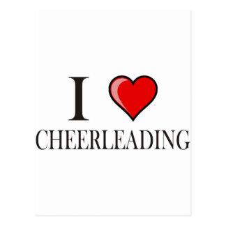 I love cheerleading postcards