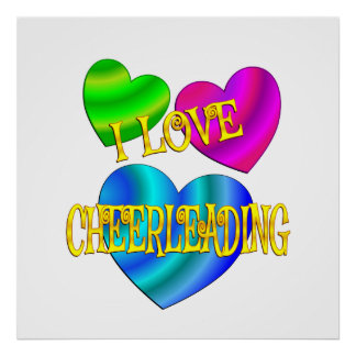 I Love Cheerleading Poster