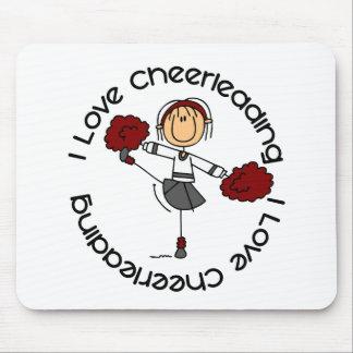 I Love Cheerleading Stick Figure Cheerleader Mouse Pad
