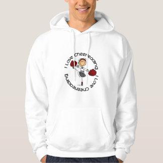 I Love Cheerleading Stick Figure Cheerleader Sweatshirt