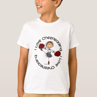 I Love Cheerleading Stick Figure Cheerleader T-Shirt