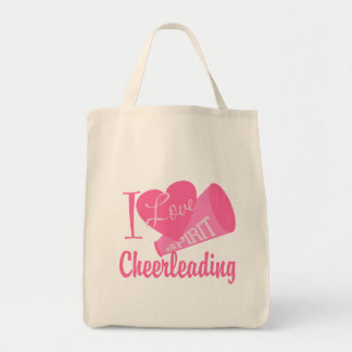 I Love Cheerleading Grocery Tote Bag