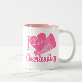 I Love Cheerleading Two-Tone Mug