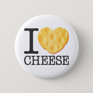 I Love Cheese 6 Cm Round Badge