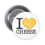 I Love Cheese 6 Cm Round Badge
