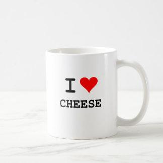 I love cheese (black lettering) basic white mug