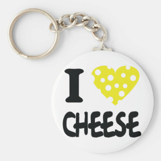 I love cheese icon key ring
