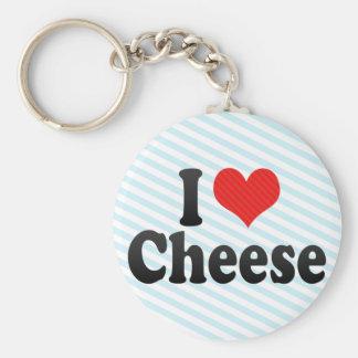 I Love Cheese Key Ring