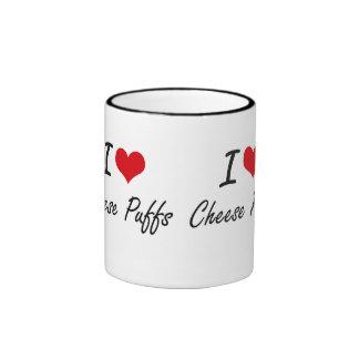 I Love Cheese Puffs artistic design Ringer Mug