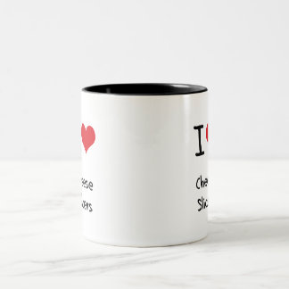 I love Cheese Slicers Two-Tone Coffee Mug