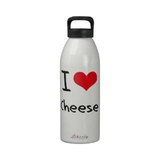 I love Cheese Reusable Water Bottles