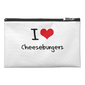I love Cheeseburgers Travel Accessory Bags