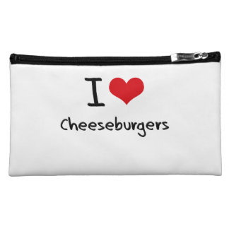 I love Cheeseburgers Cosmetics Bags