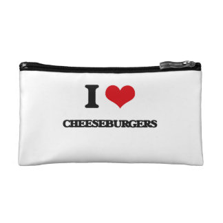 I love Cheeseburgers Makeup Bags