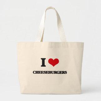 I love Cheeseburgers Canvas Bag
