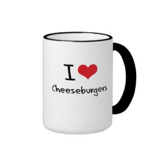 I love Cheeseburgers Ringer Mug