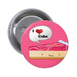 I love Cheesecake 6 Cm Round Badge