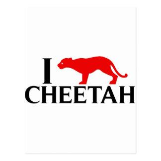 I Love Cheetah Postcard