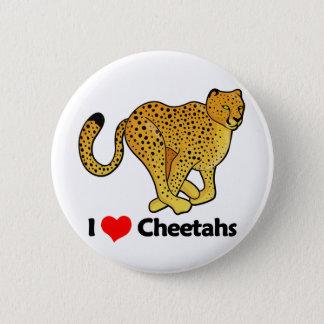 I Love Cheetahs 6 Cm Round Badge